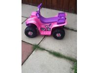 Pink Quad Electric Ride on