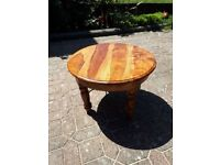 CIRCULAR COFFEE TABLE, HARDWOOD, JALI RANGE, 51 CM DIAMETER