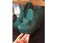 Size 6 brand new in box wedge boot/shoes