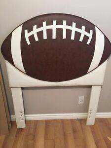 Football twin headboard