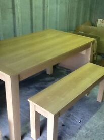 Bought from next solid kitchen table and bench good condition