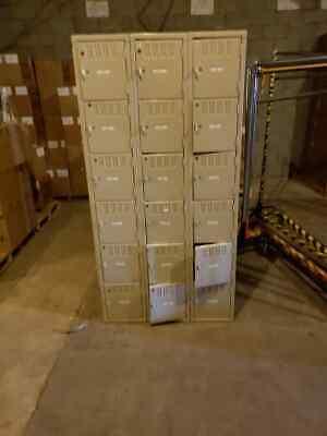 Cube Gym Lockers Steel Set 18 Cubes Storage School Employee Lockers