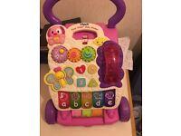 Vtech Girls first steps baby walker Pink