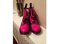 Girls Pink Doc Martens size 4