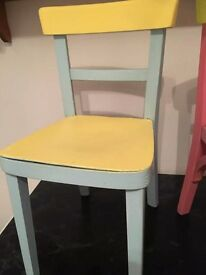 Upcycled childrens chairs