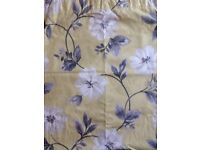 Curtains -pair. Lovely floral pattern in grey and pale yellow. Great condition.