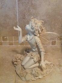 Lovely cream fairy statuette/figurine