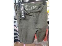 mens carter shorts size large