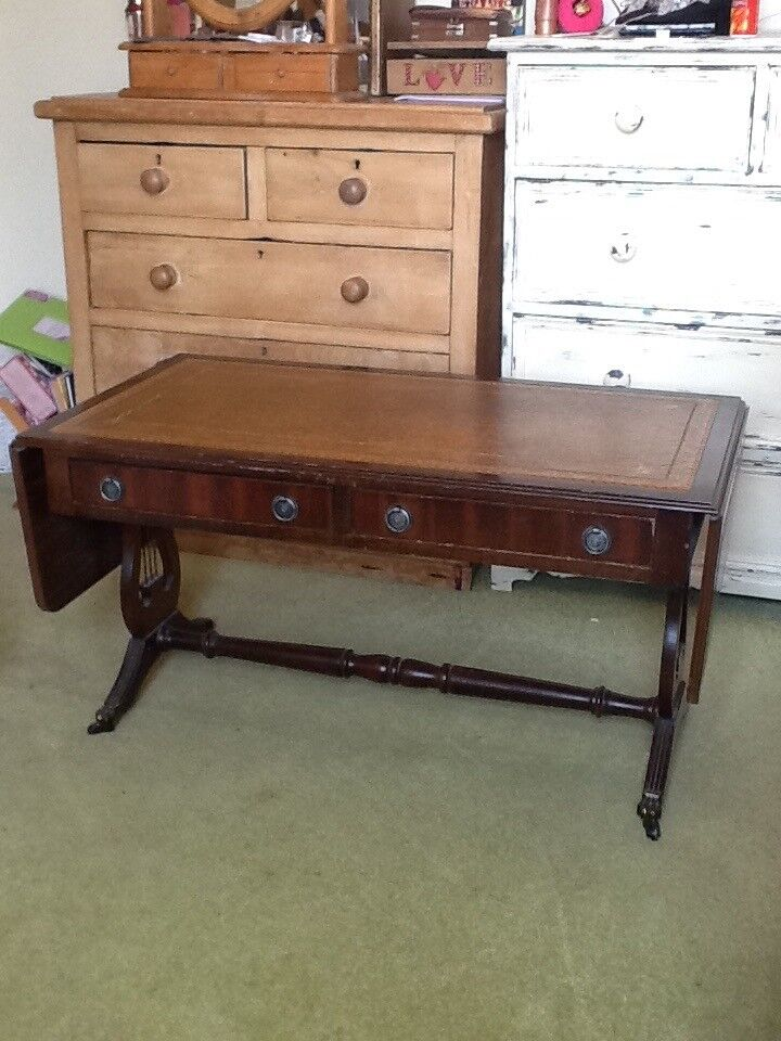 Period Style Low Coffee Table Occasional With Drawers