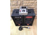 active speakers, cd player and mic