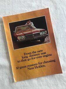 HJ Holden Brochure inc. Monaro Somerset Waratah Area Preview