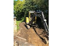 Digger hire with driverat cheap affordable prices