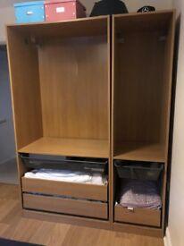 IKEA PAX Double & Single Wardbrobe in Oak RRP over 300