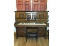 Hansons piano and piano stool for sale.