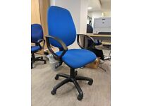 FREE DELIVERY - Blue 2 Lever Office Chair