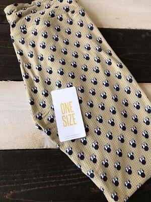 e Mouse Os One Size Leggings New Bow Polka Dot Black Gold (Gold Polka Dot Leggings)