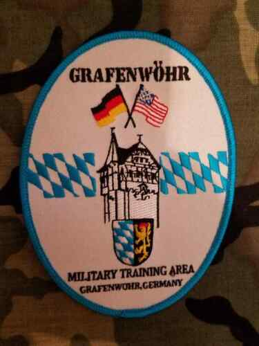 "Grafenwöhr Training Area Oval  4""  embroidered patch"