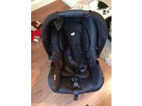 Isofix base and joie gemm car seat.