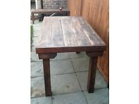 Farmhouse style kitchen table,one off made from reclaimed stripped pine