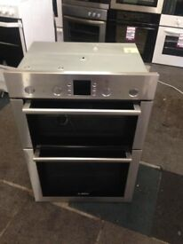 bosch stainless steel double oven built in fan assisted