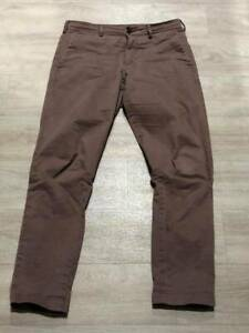 "UNIQLO size 30"" waist x 32"" leg Brown Long Chino Pants for Sale"