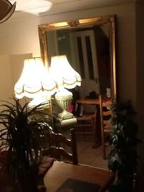 Large Gilded Gold Mirror