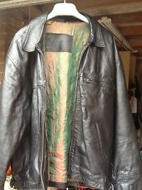 Leather jacket to clear size med/large £10
