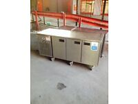 3 doors commercial williams foster counter bench prep fridge takeaway shop cafe use bench worktop