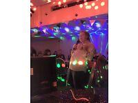 Female karaoke disco host , kid entertainment and singer
