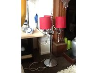 Two Art Deco very heavy lamps