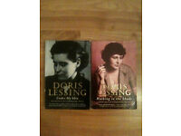 2 Doris Lessing Books - Walking in the Shade & Under My Skin - Autobiographies