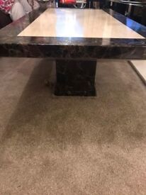 Italian Marble coffee table .