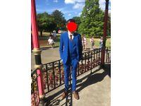Royal Blue ASOS Slim Fit Suit