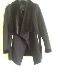 New look black suede waterfall jacket brand new never been worn size 10 was £40