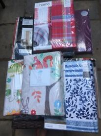 Job Lot Ex Stock - Duvet Sets, Cushion Covers, Curtains, Hot Water Bottles with Cover, Rugs NEW