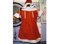 CHRISTMAS MISS SANTA INCLUDES DRESS CAPE AND HAT ABOUT A SIZE 10 GREAT FOR A PARTY