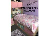 Pink Bedroom Furniture (Mid-sleeper Bed and Wardrobe available) - Argos Malibu Range