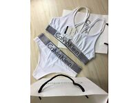 Calvin Klein Criss Cross Bralette and Brief Set for wholesale only