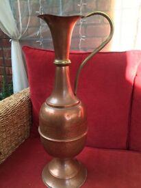 Old copper vases
