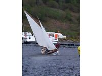 Sailing Boat Complete with Trailer 16ft Double Ended Gaff Cutter.