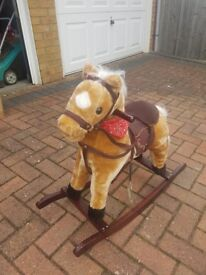 Quality child's rocking horse with sounds