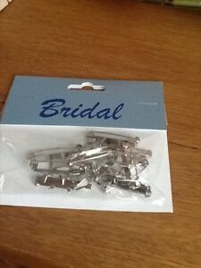 Wedding corsage pins - set of 6 - silver - buttonhole