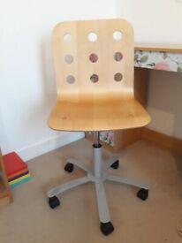 Adjustable Brown Computer / Desk Chair
