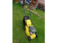 Challenge Petrol lawn mower with grassbox - v/good condition - bargain