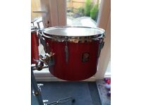 "Premier 1970's Vintage Concert Toms 13"" & 14"" - Polychromatic Red - Good Condition, New Heads fitted"