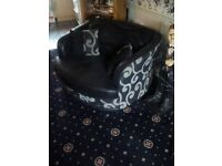 Swivel Cuddle Chair and three seater sofa