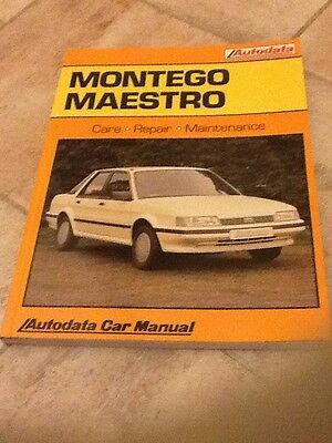 MONTEGO & MAESTRO CAR REPAIR MANUAL 1984-90 By AUTODATA
