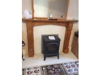 Gas fire stove, insert, heart and surround