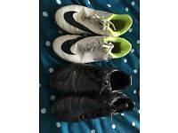 2x size 2 football boots and astros
