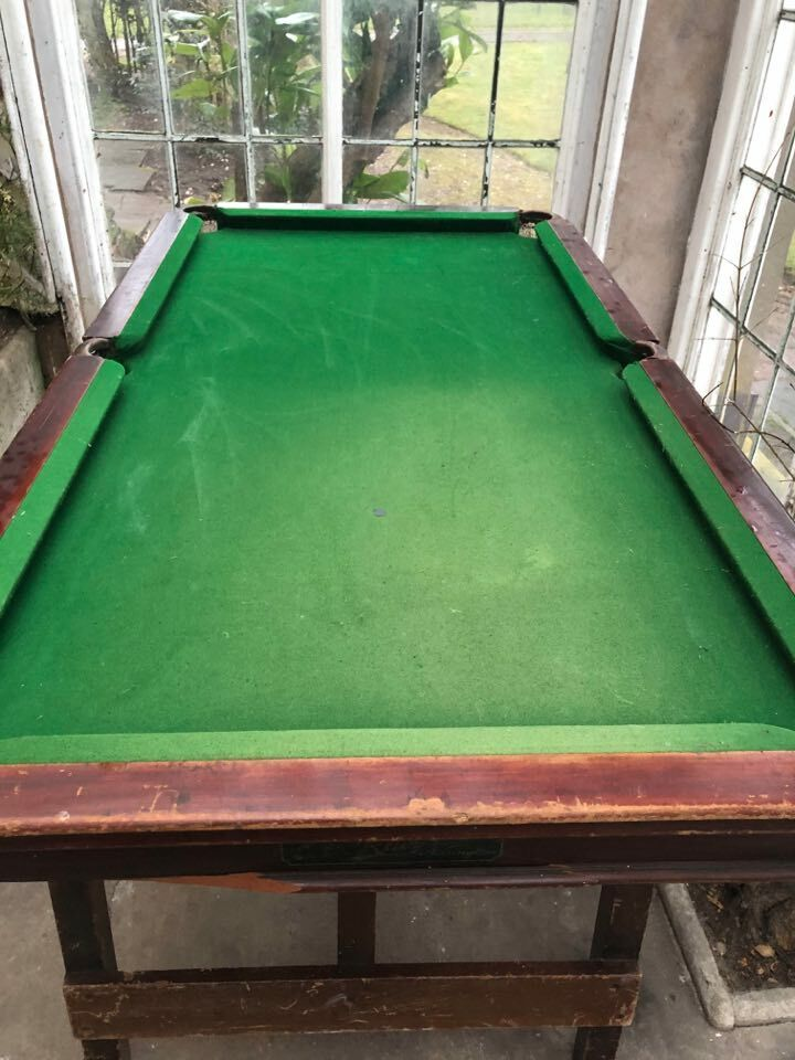 E G Riley Accrington Ltd Slate Bed Fold Up Snooker Table Really Heavy Over 5 FT
